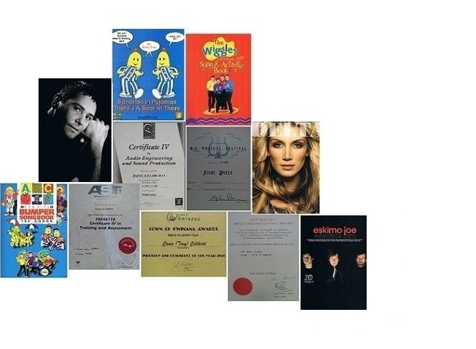 certificates  + Music sales covers